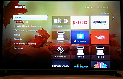 Roku TV interface