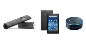 Amazon Fire TV Stick, Fire Tablet, and Echo Dot