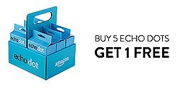 Amazon Echo Dot Six-Pack Promotion: Buy 5, Get 1 Free