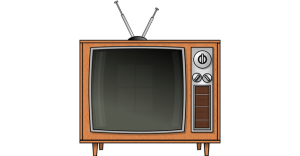 TV with Rabbit Ears Antenna