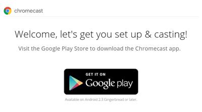 google chrome cast setup