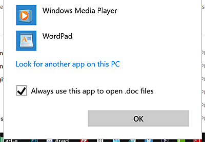 my files open with the same program