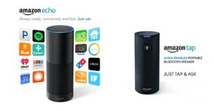 Amazon Echo and Amazon Tap