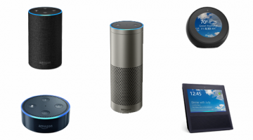Amazon Echo, Echo Dot, Echo Plus, Echo Spot, and Echo Show