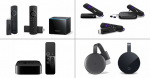 Amazon Fire TV, Roku, Apple TV, Google Chromecast