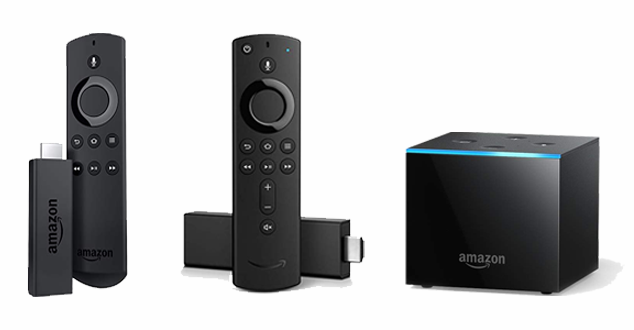Amazon Fire TV, Stick, Fire TV Stick 4K, and Fire TV Cube