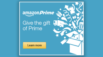 Prime Gift Option: Give a 3-Month Amazon Prime Membership for $33