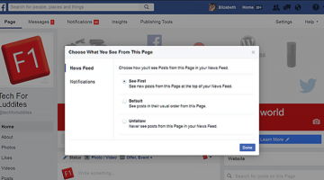 Facebook Page News Feed Preferences