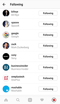Accounts Tech for Luddites Is Following on Instagram
