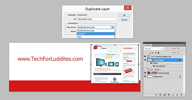 Adobe Photoshop: Duplicate Layer to a Different Document
