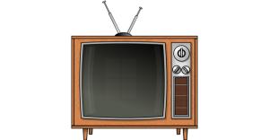 TV with Rabbit Ears Antenna