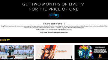 Today Only: Get Two Months of Sling TV for the Price of One Through Amazon