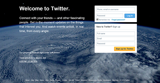 Twitter Sign-Up Page