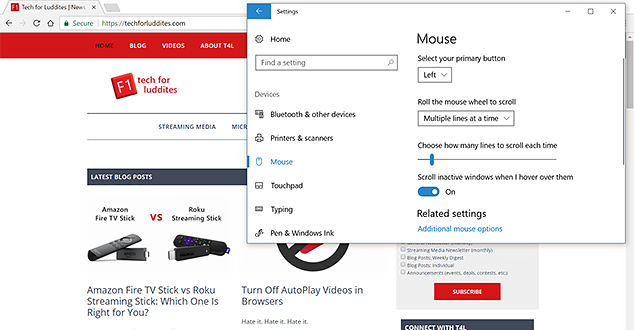 How To Change Scroll Settings in Windows 10 | Tech for Luddites