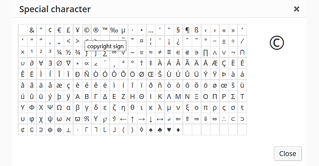 WordPress Special Characters